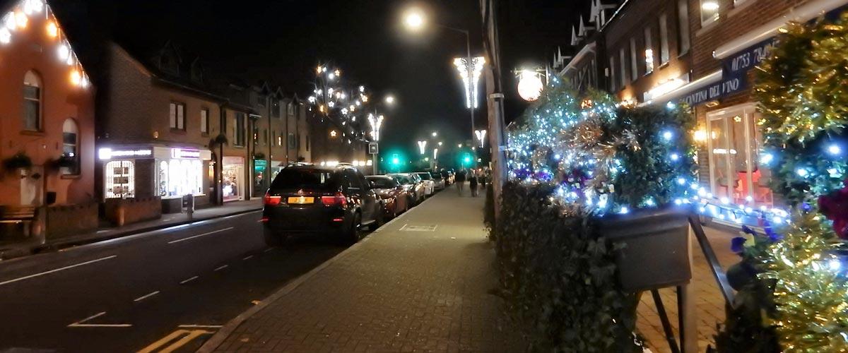 Farnham Royal Christmas Street Lights 2016