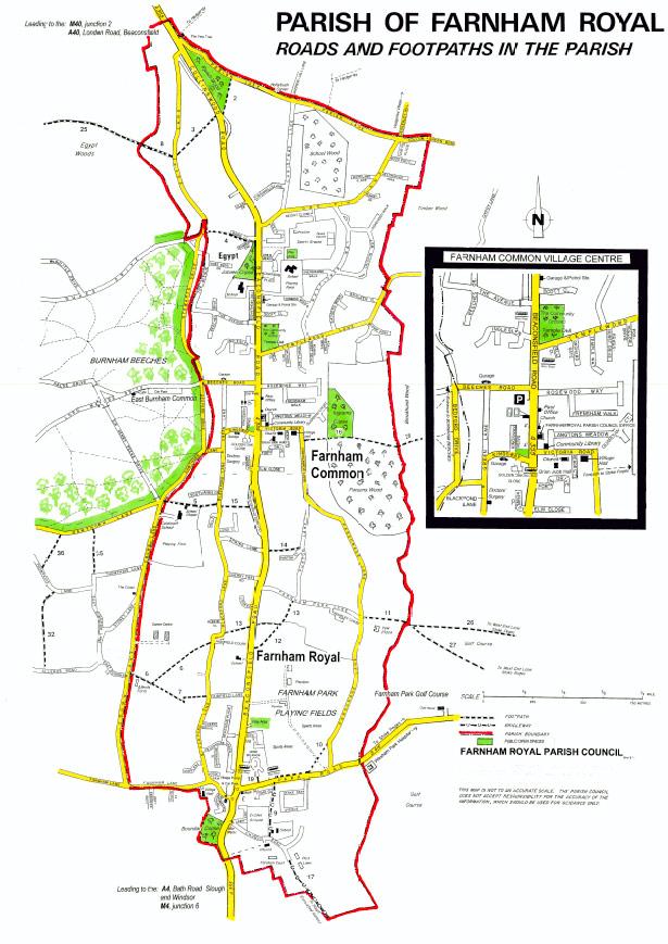 Parish of Farnham Royal Map